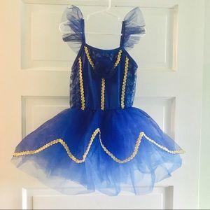 Blue w/ gold sparkles tutu pageant dress 💙✨